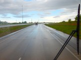 It was a rainy start for the day's lovely drive.