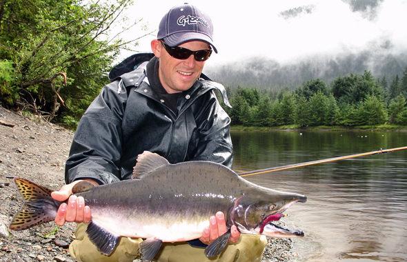 Khev with a Fish Creek Humpy