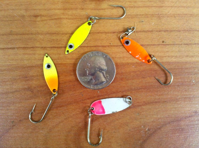 Small Flutter Spoons are great for shad