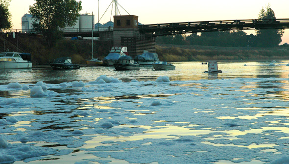 The Mystery Foam hitting the main river