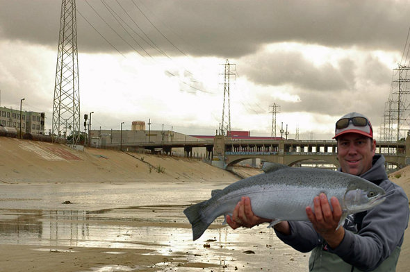 Me with LA River chrome
