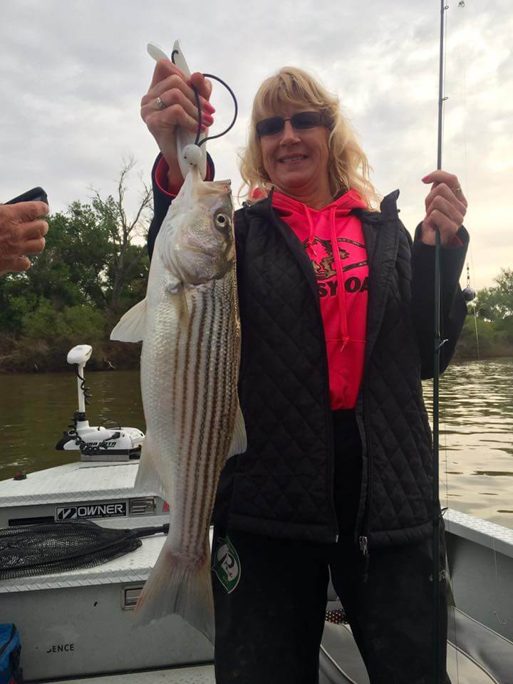 Dee traveled all the way from Klamath, CA to catch a bunch of stripers with JD