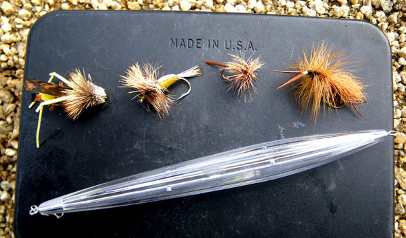 Crystal Cast bobber and flies