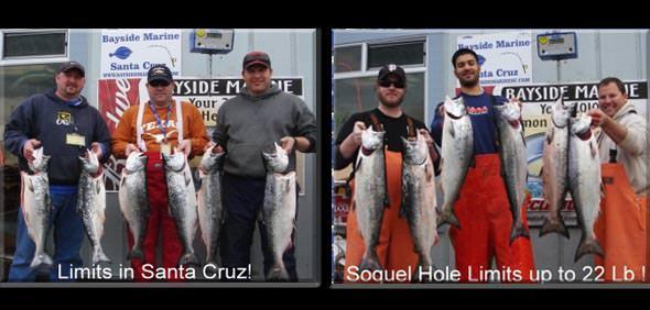Santa cruz anglers get salmon on opener for Deep sea fishing santa cruz