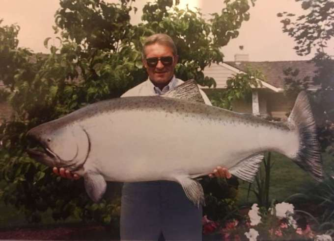 Biggest salmon in the world