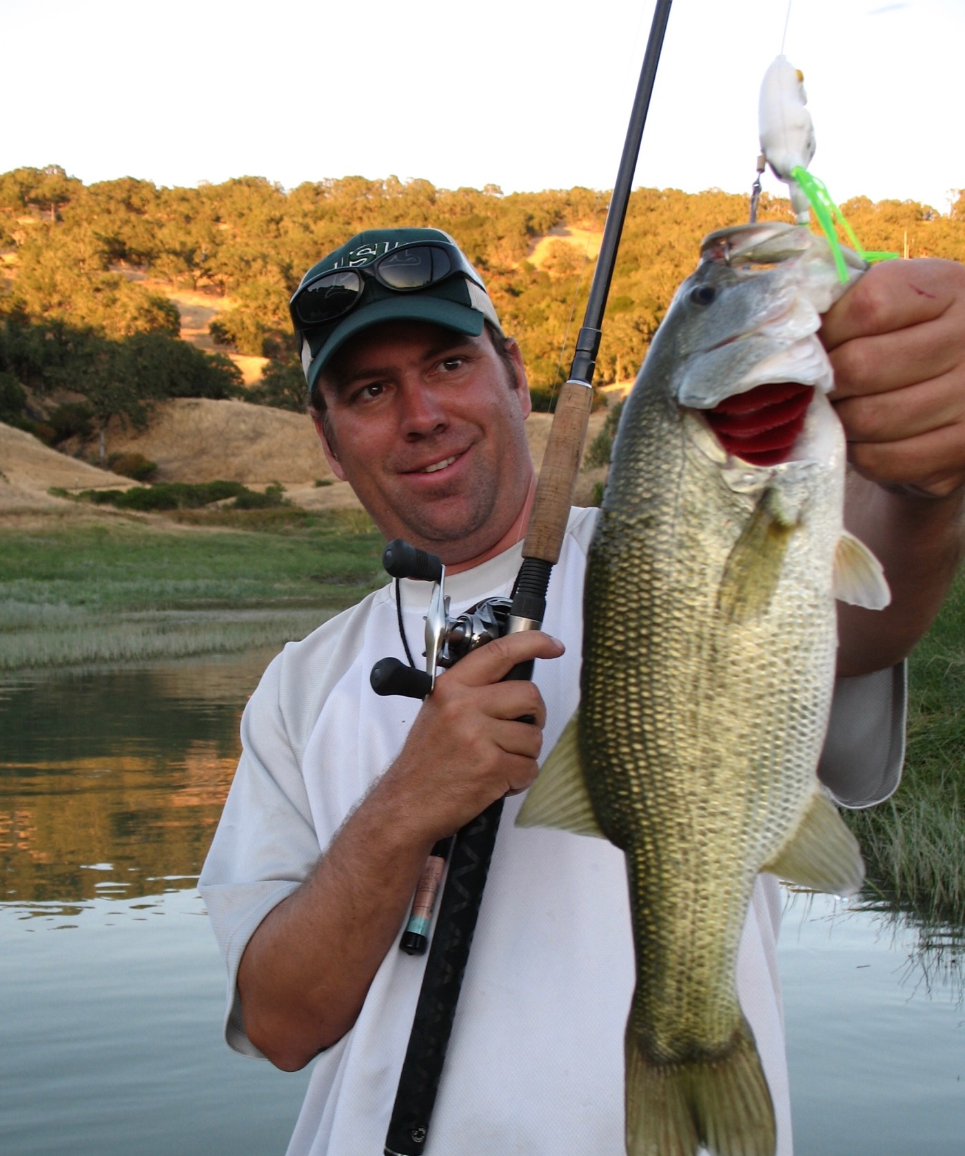 Summer bass fishing with topwater frogs