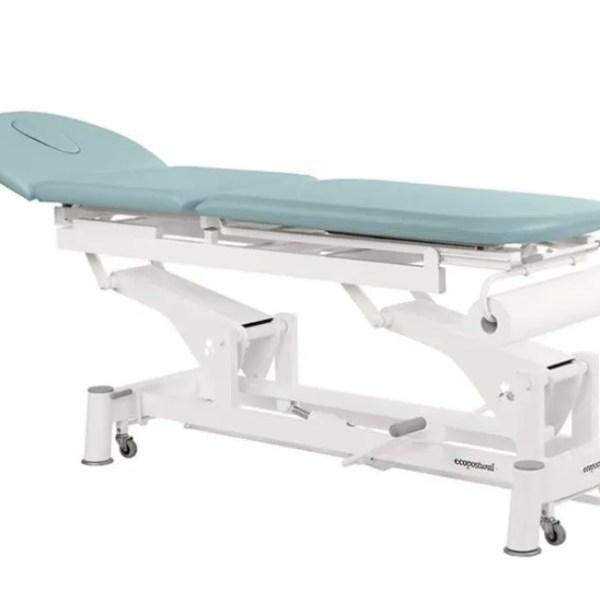 Camilla hidráulica de fisioterapia de 3 cuerpos