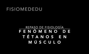 Fenómeno de tétanos en músculo
