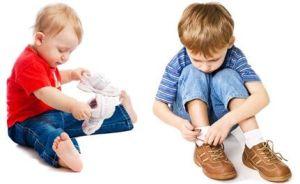 zapatos para los niños