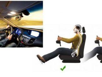 postura correcta al conducir