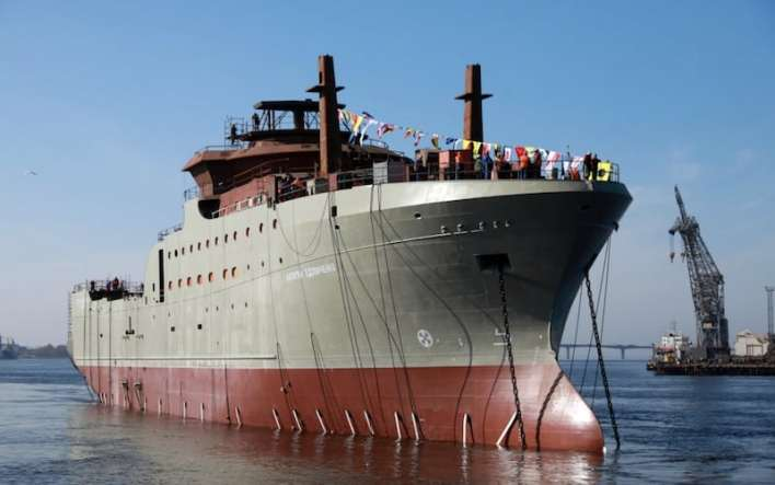 First Russian Fishery Company trawler launched - FiskerForum