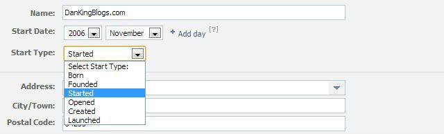 facebook page, update info, edit page, basic settings, start information