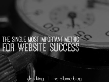 website success, average time on page