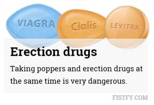 Poppers and erection drugs