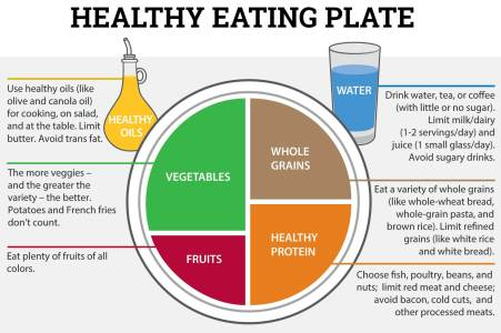 Healty eating plate. Use the Healthy Eating Plate as a guide for creating healthy, balanced meals.