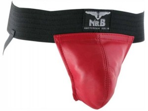 Mr B Leather Jockstrap Two Bands Red $44.54(25% Off) $59.80