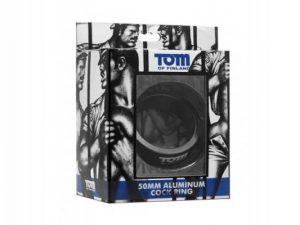 Tom Of Finland Gun Metal Aluminium Cock Ring - 50mm $20.36(27% Off) $27.98