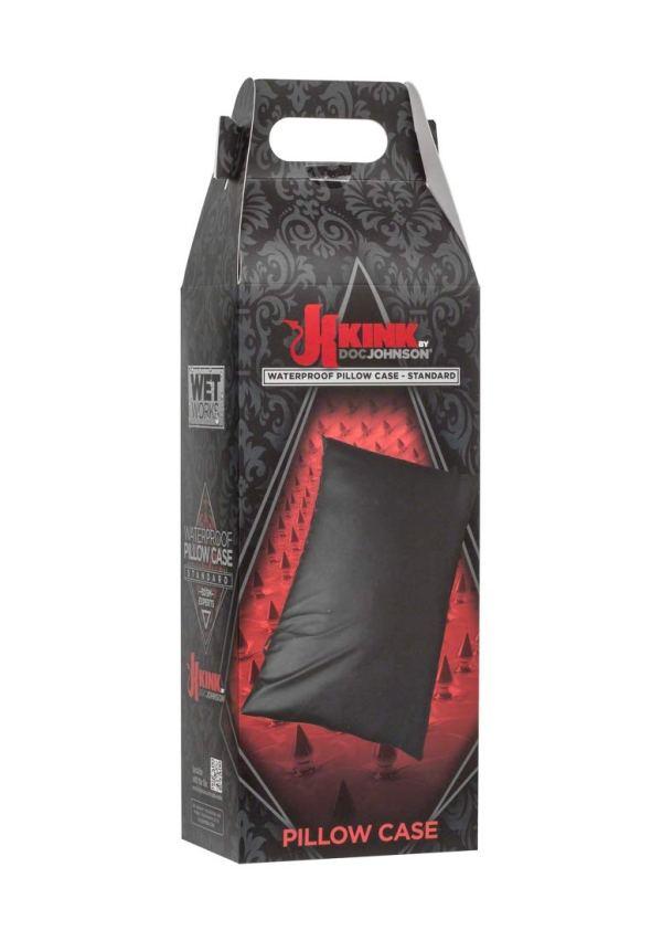 KINK By Doc Johnson Wet Works Waterproof Standard Pillow Case, Black