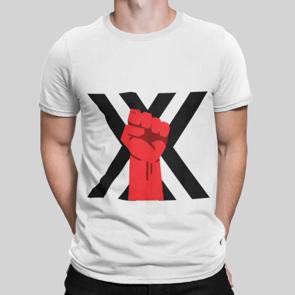 xxx fist t-shirt white