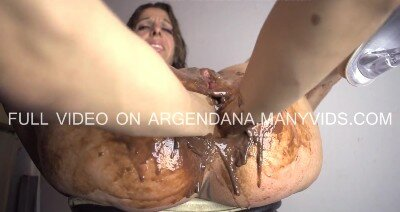 Anal Fisting with Easter Chocolate as Lube for Argendana