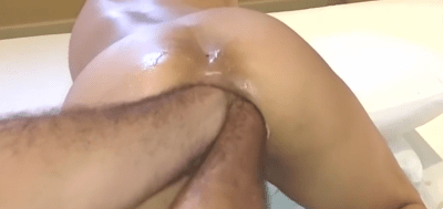 Double Anal Amateur Fisting, He wrecks Her Gaped Ass!