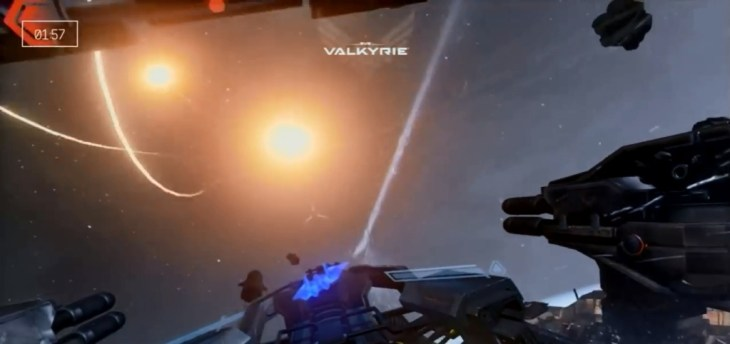 Eve Valkyrie Unreal 4 Engine Screenshot - Missile Explosions
