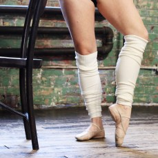 Ballet slippers and legwarmers