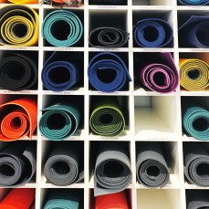 Mats on mats on mats - mat storage available for $10 per month