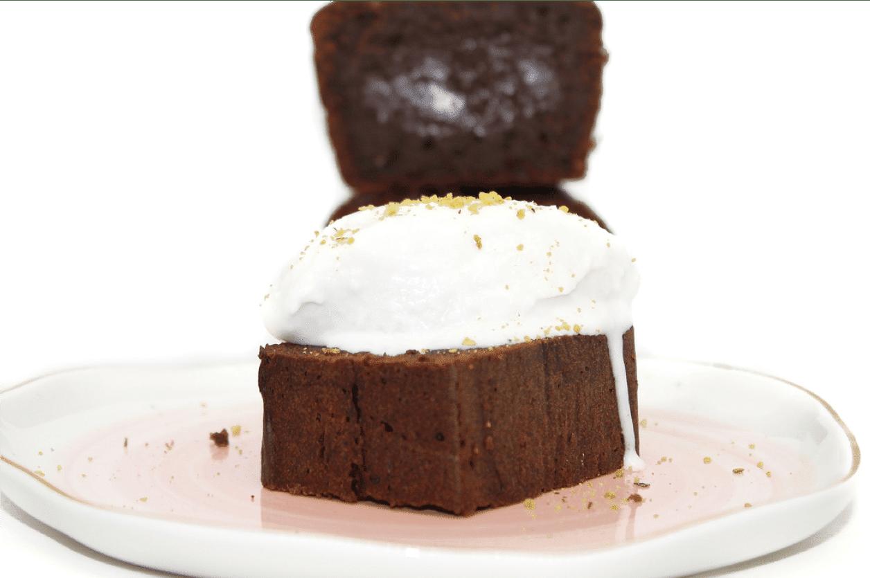 Cake fondant et glace vegan