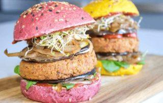 Burger vegan et healthy fit