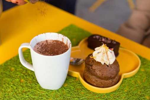 carrot cake & chocolat chaud