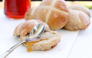hot cross buns vegan paques