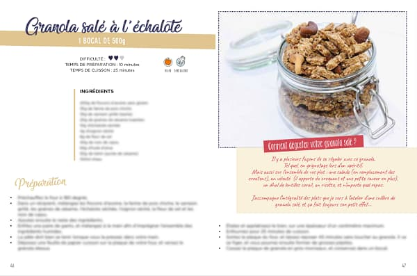recette granola salé ebook sans gluten