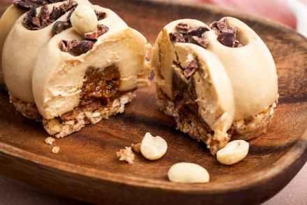 buchette cacahuete coeur coulant vegan sans gluten sans lactose