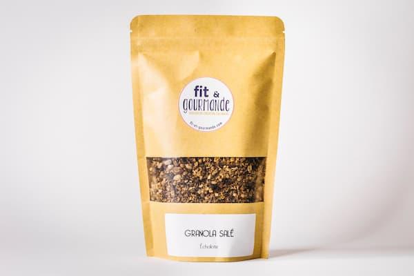 granola sale echalote vegan et sans gluten fit et gourmande