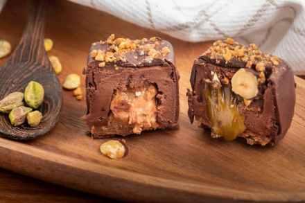 rochers chocolat pistache cacahuete healthy vegan sans gluten sans lactose