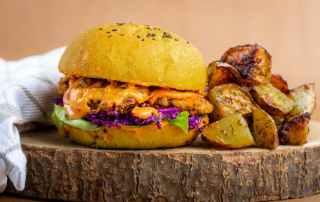chicken burger revisité vegan