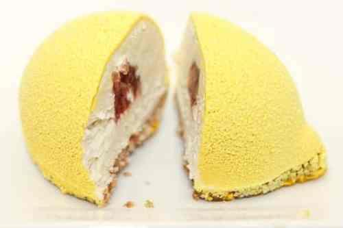 cheesecake citron insert fraise vegan et sans gluten