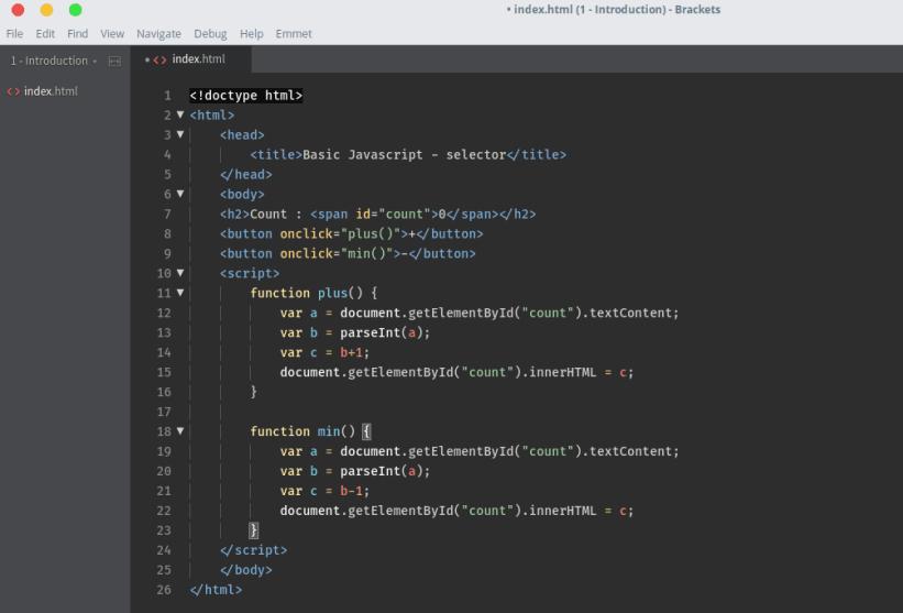 Easy Javascript Selector Source Code
