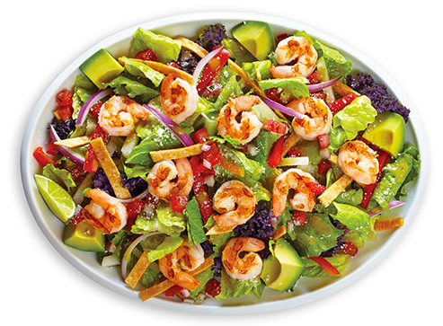 Grilled Shrimp Chile Lime Salad- Baja Fresh