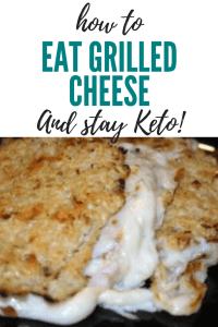 Cauliflower grilled cheese low carb keto