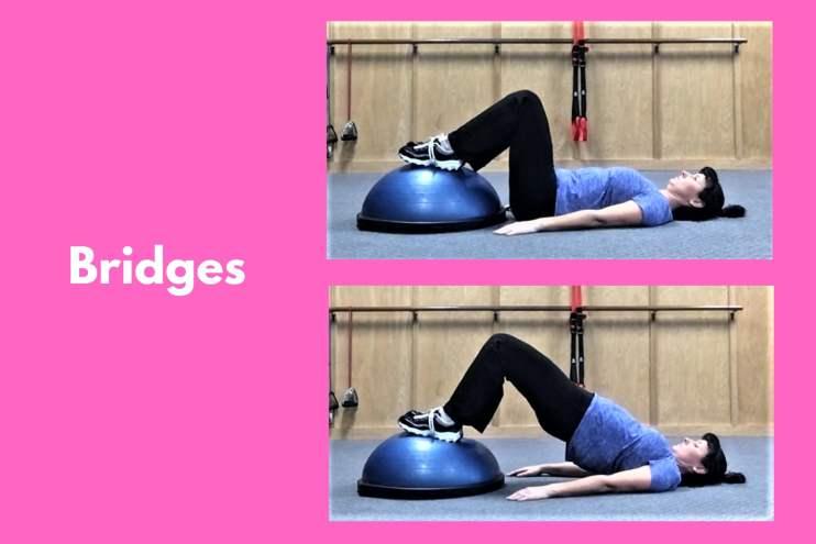 Bosu Workout Bridges