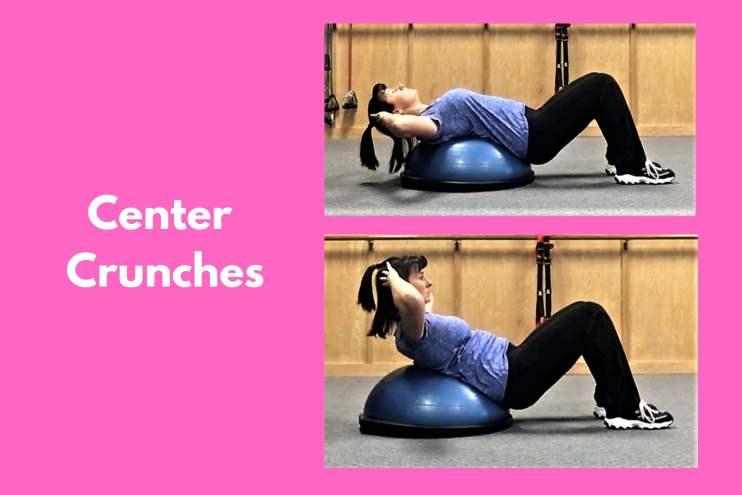 Bosu Workout Center Crunches
