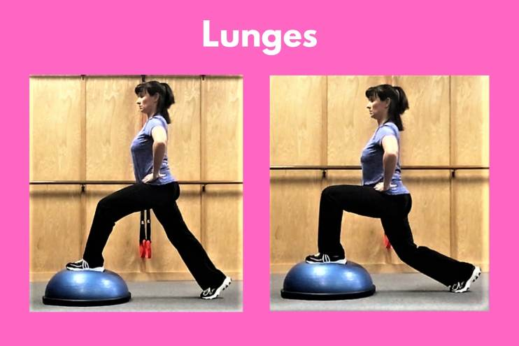 Bosu Workout Lunges