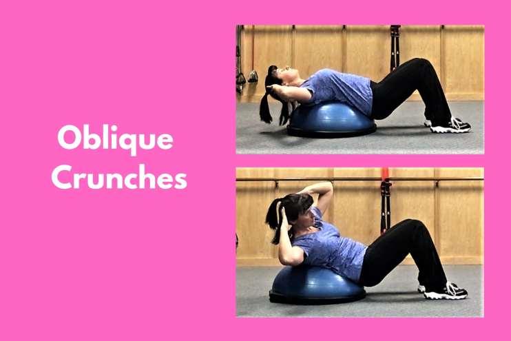 Bosu Workout Oblique Crunches