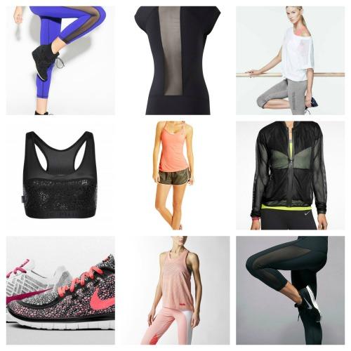 fitness fashion mesh