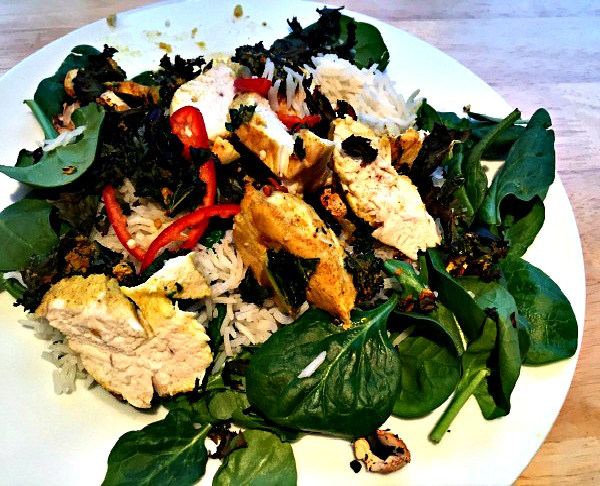 jamie-oliver-healthy-curry-bombay-chicken-and-cauli-poppadoms-rice-spinach