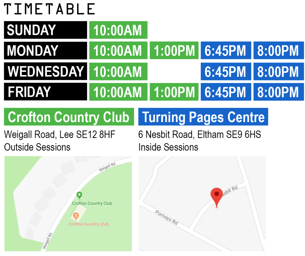 Fitcamp Timetable & locations