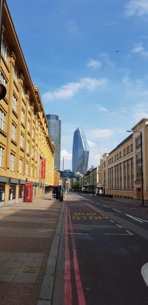 Photos of London in Lockdown - April 2020-11-Southwark Street deserted