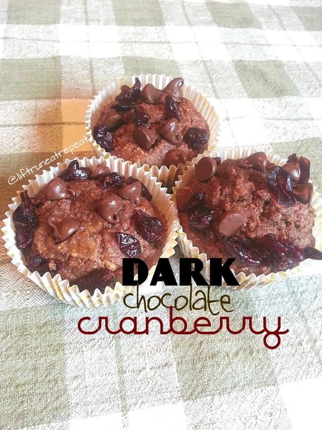 dark chocolate cranberry muffins